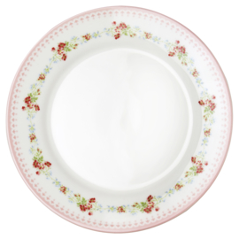 Greengate Stoneware Sinja white plate