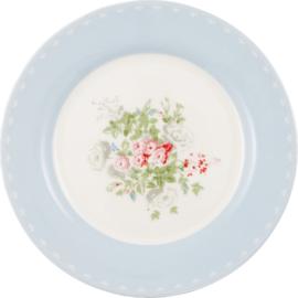 Greengate Stoneware Petricia pale blue plate