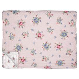 Greengate quilt Roberta pale pink 1-persoons