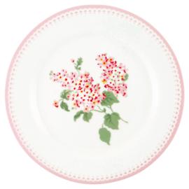 Greengate Stoneware Luna white plate