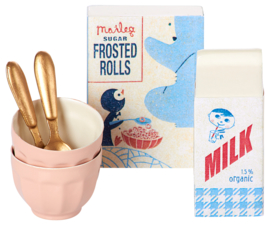 Maileg breakfast set for two, in box