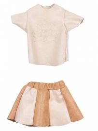 Maileg kledingsetje mega (Large) girl, suede rokje en blouse