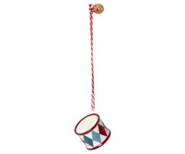 Maileg metal drum-hanger small, red/blue