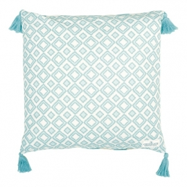 Greengate cushion cover Aya aqua