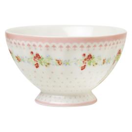 Greengate Stoneware Sinja white French bowl small