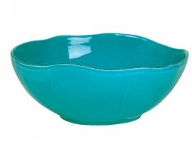 Rice Italian stoneware salad bowl turquoise, large