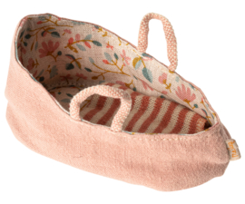 Maileg carry cot misty rose, for xsmall baby