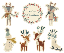 Maileg Gift tags, Cosy christmas 14 pcs.