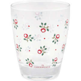 Greengate glass for drinks Abi petit white