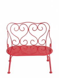 Maileg metal bench red, medium