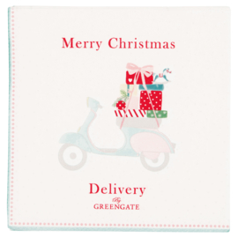 Greengate Paper Napkins Scooter white small 20pcs