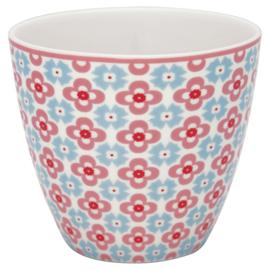 Greengate Stoneware Cordelia white latte cup