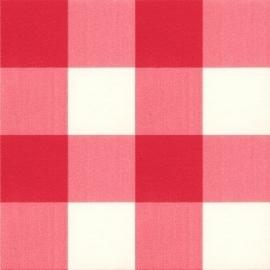 plakfolie rood/wit grote ruit