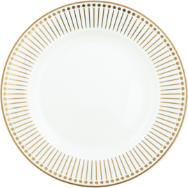 Greengate Stoneware Dawn gold plate