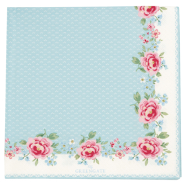 Greengate Paper napkins Meryl white large