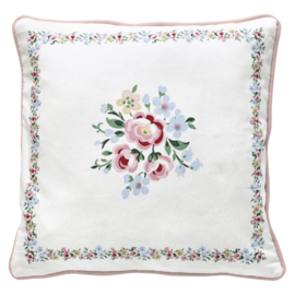 Greengate Cushion cover Nicoline white pieceprinted 40x40cm