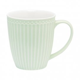 Greengate Stoneware Alice pale green mug