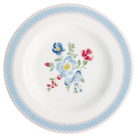 Greengate Stoneware Evie white small plate
