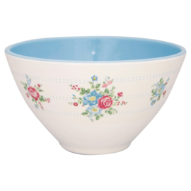 Greengate Melamine cereal bowl Henrietta white