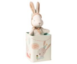 Maileg Happy day bunny in tin box, Small