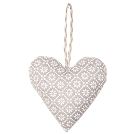 Greengate heart-hanger Nanna warm grey