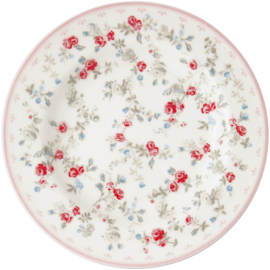 Greengate Stoneware Carly white small plate