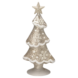 Greengate xmas tree glass white