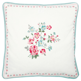 Greengate Cushion cover Sonia white pieceprinted 40x40cm