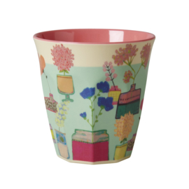 Rice melamine beker, Flower display