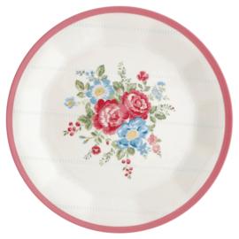 Greengate Melamine plate Henrietta white