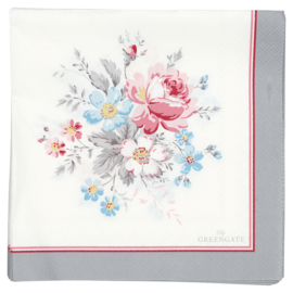 Greengate paper napkins Marie pale grey