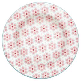 Greengate Stoneware Leah pale pink small plate