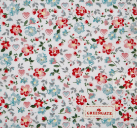 Greengate Cushion cover Merla white 50x50cm