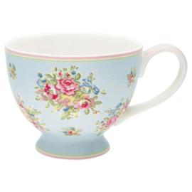 Greengate Stoneware Franka pale blue teacup