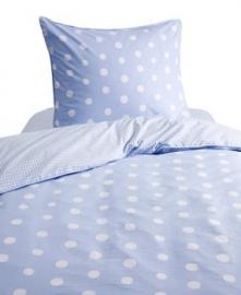 dekbedovertrek-set Dotty Spotty lichtblauw