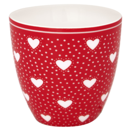 Greengate Stoneware Penny red Mini latte cup