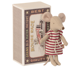 Maileg mouse Big sister beach, in matchbox