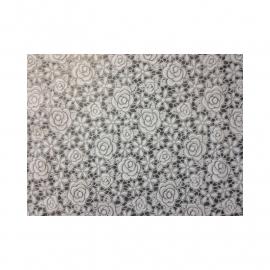 tafelzeil kant rozen, wit