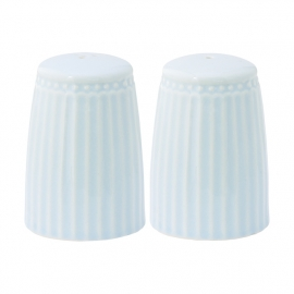 Greengate Stoneware Alice pale blue Salt and pepper set