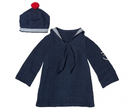 Maileg kledingsetje mega (Large) boy, Sailor blouse & hat