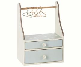Maileg Wardrobe Dresser, Mint dots