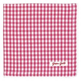 Greengate bread basket napkin Raspberry red