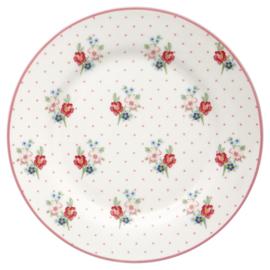 Greengate Stoneware Eja white plate
