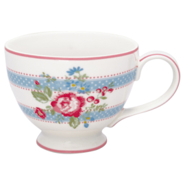 Greengate Stoneware Evie white teacup