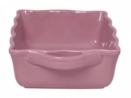 Rice italian stoneware ovendish large, pink