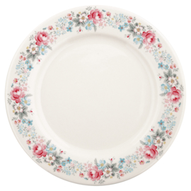 Greengate Stoneware Marie pale grey dinnerplate