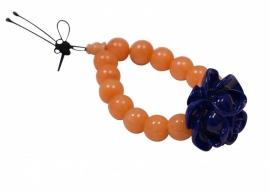 Rice armband glaskralen, oranje