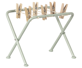 Maileg Drying rack w. pegs pale bue