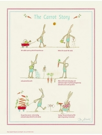 """Maileg ingelijste poster """"the carrot story"""""""