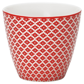Greengate Stoneware Judy red Latte cup